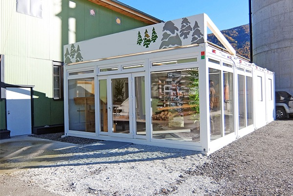 Wintersport winkel in de alpen