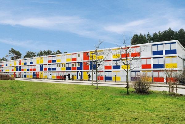 Grootschalig woonproject in kleur