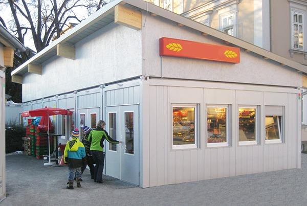 Plaatselijk modulaire unit supermarkt
