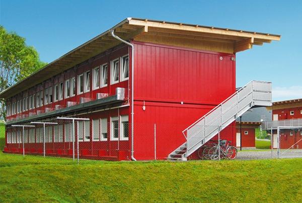 Modulair wooncomplex in kleur