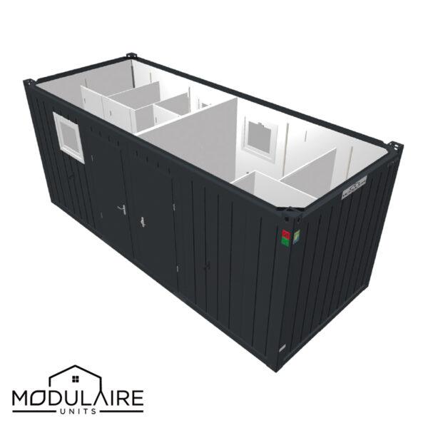 Antracieten Sanitaire unit combi 6,05 x 2,43 m