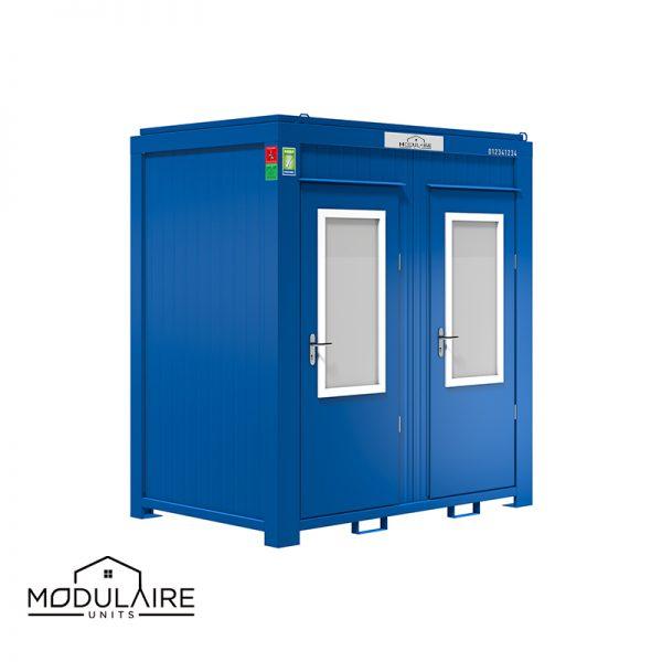 Sanitairunit dubbele cabine 1,40 x 2,40 m RAL 5010