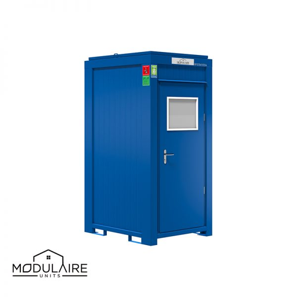 Sanitairunit enkele cabine 1,40 x 1,20 m RAL 5010