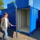 5ft kleine container - 2,20 x 1,60 m RAL 7016