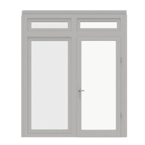 Glazen paneel met dubbele deur