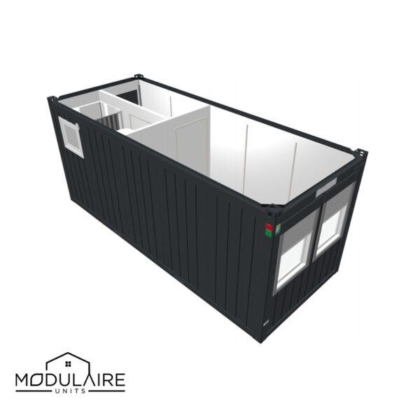 Standaard A - 6,05 x 2,43 m 20ft badkamer en hal
