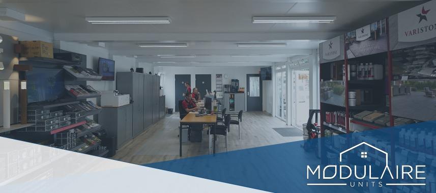 A18 Sierbestrating kantoorunit