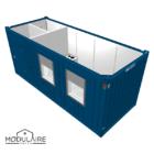 VOORRAAD MODEL   Kantoorunit 6,05 x 2,43 m incl. Keuken en Toilet